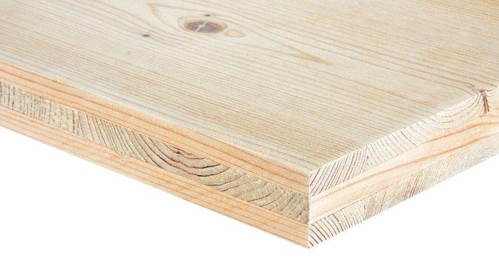 3-Schichtplatte in der Holzart Fichte
