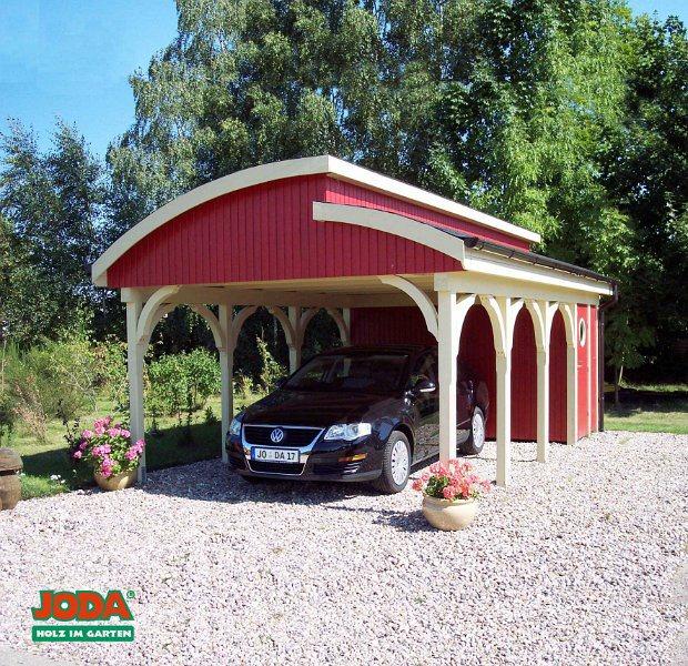 Endbehandeltes Shed-Dach mit Geräteraum
